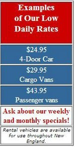 Examples of our rental prices